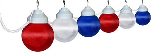 Polymer Products 16-99-00705 Globe Lights- Patriotic, Set of 6