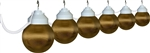 Polymer Products 16-32-17404 Bronze Globe String Lights - Set of 6