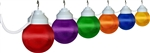 Polymer Products 16-61-00523 Multi-Color Globe String Lights - Set of 6