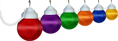 Polymer Products 16-61-00523 Globe Lights- Multi-Color, Set Of 6