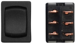Diamond Group S2-67 12V Mini Mom-On/Off/Mom-On DPDT Switch - Black - 3 Pack