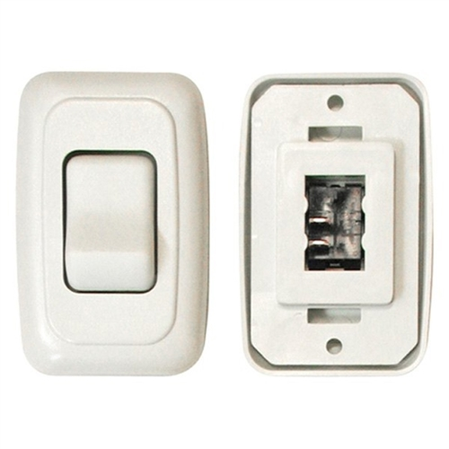 Diamond Group A-3101 Single Contoured On/Off Switch - White