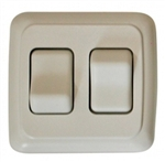 Diamond Group A-3201 Double White Contoured On/Off Switch