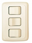 Valterra DG3301VP Triple Contoured On/Off Switch - White