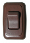 Diamond Group A-3118 Single Contoured On/Off Switch - Brown