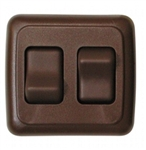 Diamond Group A-3218 Double Contoured On/Off Switch - Brown