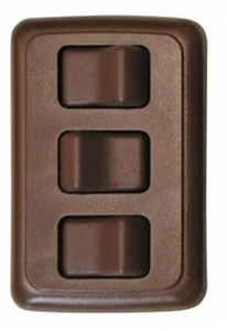 Valterra DG3318VP Triple Contoured On/Off Switch - Brown