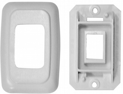 Diamond Group PB3101 Single Switch Plate Cover - White