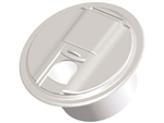 RV Designer B103 Cable Round Hatch Univ, Colonial White
