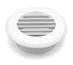 "Thetford 94264 Thermo Vent Ducted Heat Vent Without Damper- 4"", Polar White"