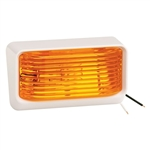 Bargman 34-78-516 Ash White Porch Light With Amber Lens