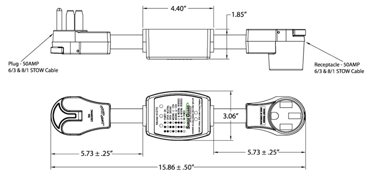surge guard 44270 entry level portable rv surge protector 50 amp