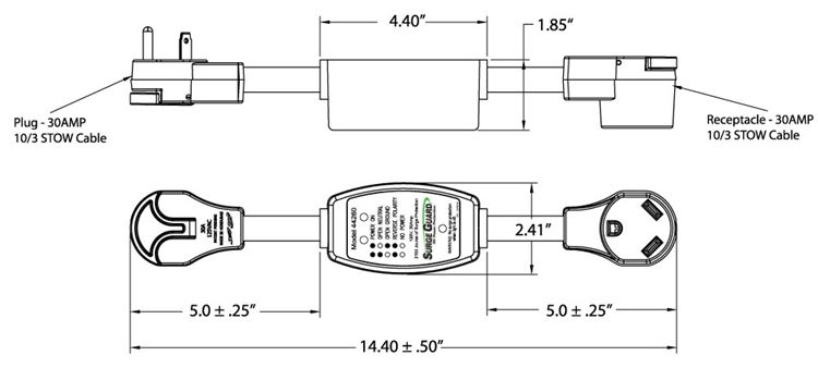 surge guard 44260 entry level rv portable surge protector 30 amp