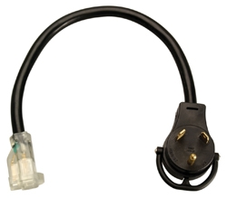"Coleman Cable 134 15 Amp Female To 30 Amp Male 18"" Extension"