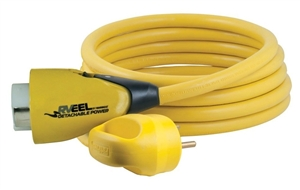 Marinco RVEEL Pigtail Locking Adapter, 30A M To 50A F, 25'