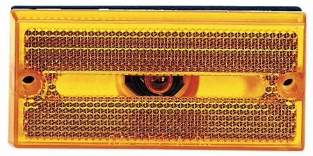 Peterson V132A Rectangular Amber Side Marker Light