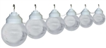 Polymer Products 16-22-17404 Clear Globe String Lights - Set of 6