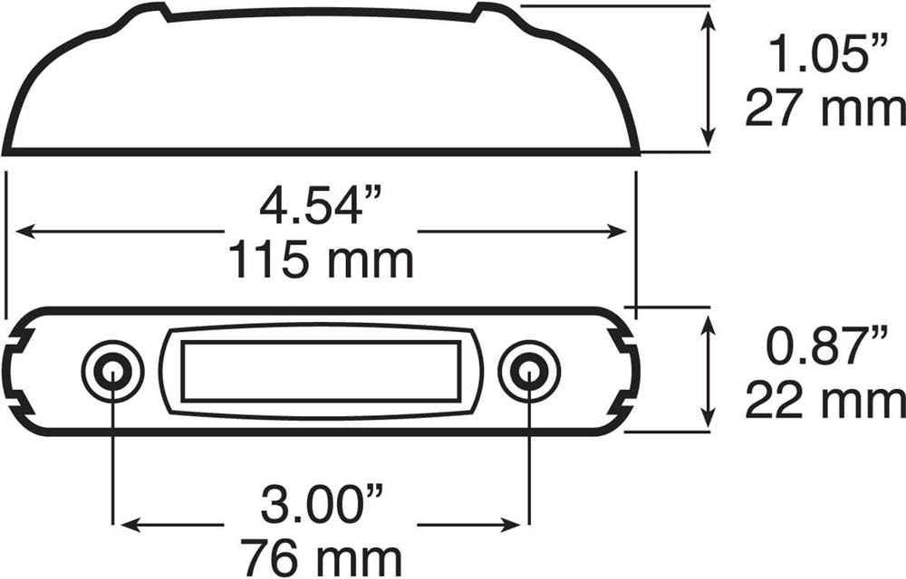 Peterson V160KR Clearance Side Marker Light Kit Red