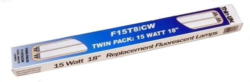 "Thin Lite F15T8/CW/TWIN 18"" Cool White Replacement Fluorescent Tubes"