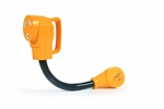Camco 55165 Power Grip Dogbone 15 Amp Male to 30 Amp Female Electrical Adapter - 12""