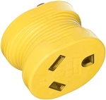 Camco 55222 Power Grip Electrical Adapter with Power Indicator Light - 15 Amp Male to 30 Amp Female