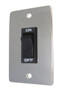 Chrome Rocker Wall Switch