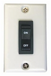 Prime Products 11-0192 White Rocker Wall Switch