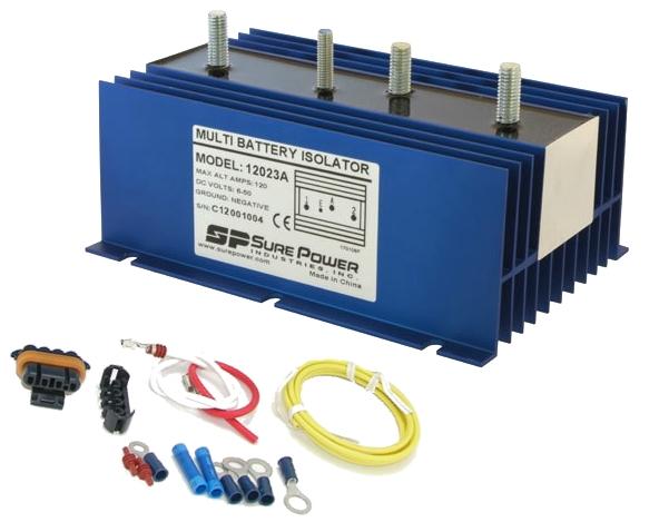 sure power sure power 120 amp 2 battery isolator
