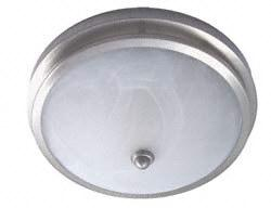 "Gustafson 55AM 556XYZ15 Satin Nickel Low Profile RV Dome Light - 8"" Diameter"