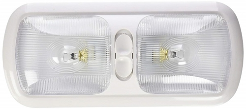 Gustafson AM4010 Double Optic RV Pancake Light with Switch