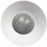 Gustafson AM4016 White Halogen RV Light With Mounting Collar - Clear Lens