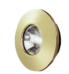 Gustafson Brass Halogen Light with Mounting Collar