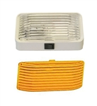 Gustafson AM4018 RV Porch Light With Clear And Amber Lenses - With Switch