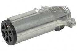 Pollak 11-700 7-Way Metal Plug Connector - Round Pins