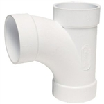 "Dirt Devil 5501-W Central Vacuum 90 Degree Sweep Tee 2"" PVC Fitting"