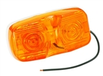 Bargman 32-003440 Amber Dual Bulb Clearance Light