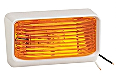 Bargman 31-78-532 White Porch Light With Amber Lens