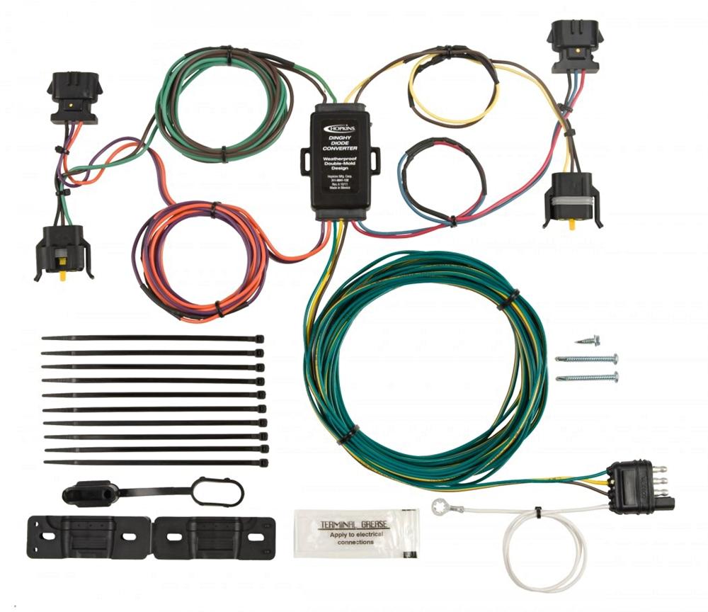 Hopkins 56003 Ford Mazda Towed Vehicle Wiring Kit 2015 Chevy Trailer Plug