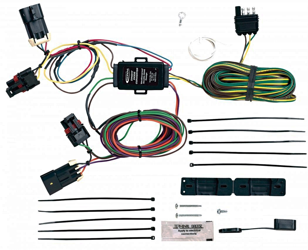 hopkins towing solutions 56100 chevy pontiac towed vehicle wiring kit dinghy towing harness at Towed Vehicle Wiring