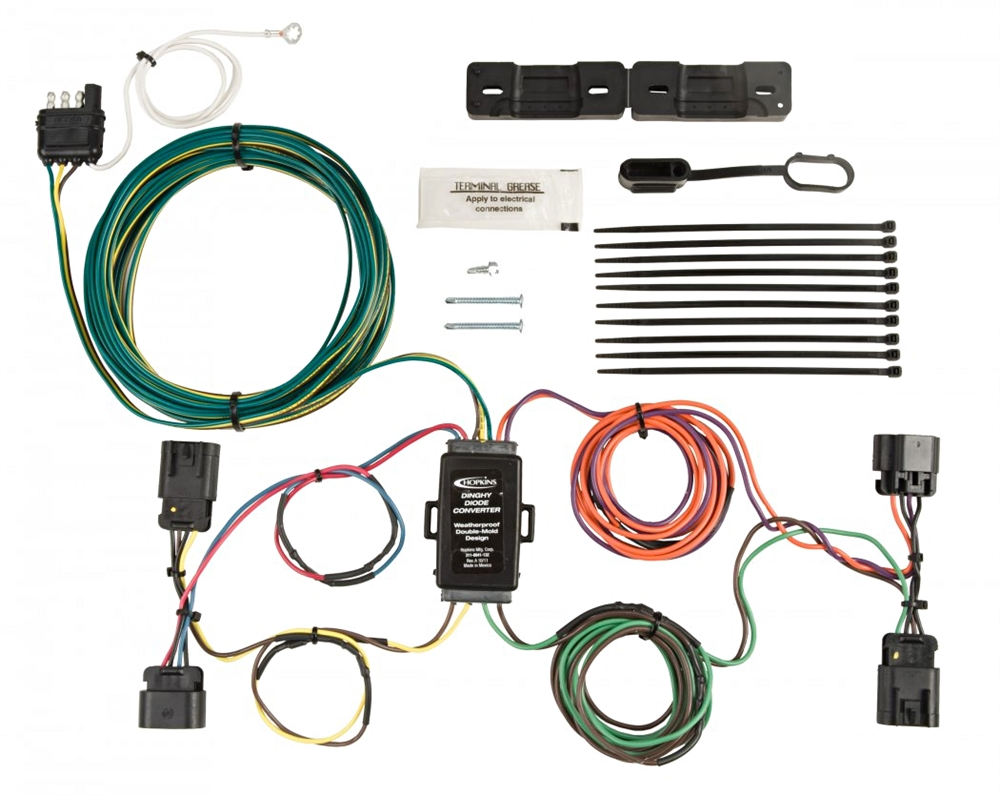 hopkins towing solutions 56102 chevy gmc towed vehicle wiring kit rh rvupgradestore com towed vehicle wiring kit for 2013 honda fit towed vehicle wiring kit for jeep cherokee