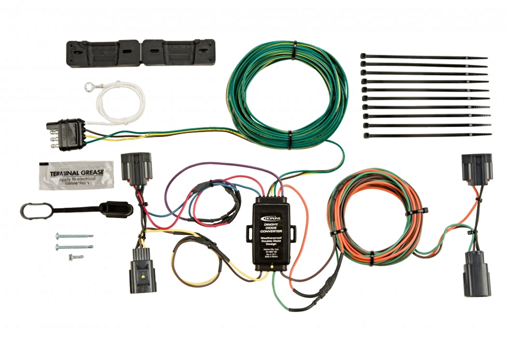 hopkins 56200 jeep towed vehicle wiring kit rh rvupgradestore com Willys Jeep Wiring Diagram jeep jk tow wiring