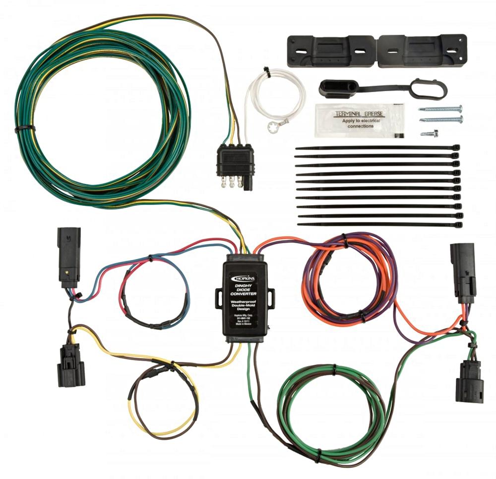 hopkins towing solutions 56301 saturn towed vehicle wiring kit rh rvupgradestore com brakebuddy towed vehicle wiring kits towed vehicle wiring kit for 2004 bounder rv
