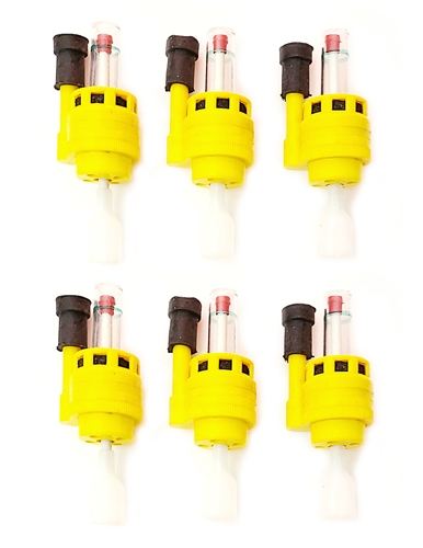 Ez Battery Check 6-12V Deep Cycle Battery Caps With Water Level Monitor - 6-Pack