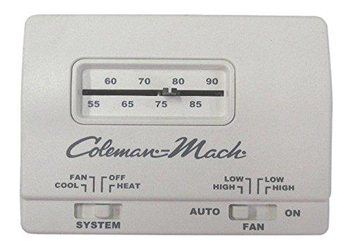 Coleman Mach 7330G3351 Analog Heat/Cool RV Air Conditioner Thermostat - 12V  - White