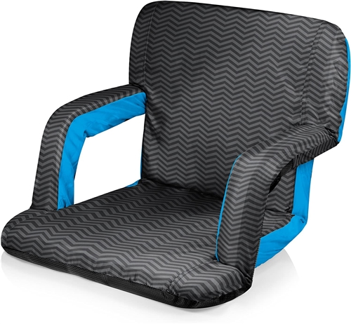 Picnic Time Ventura Seat Portable Recliner Chair - Waves Collection