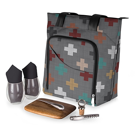 Picnic Time Sonoma Wine and Cheese Tote - Pixels Collection