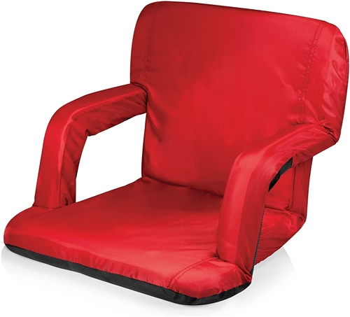 Picnic Time Ventura Seat Portable Recliner Chair - Red