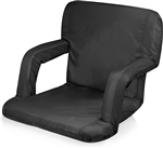 Picnic Time Ventura Seat Portable Recliner Chair - Black