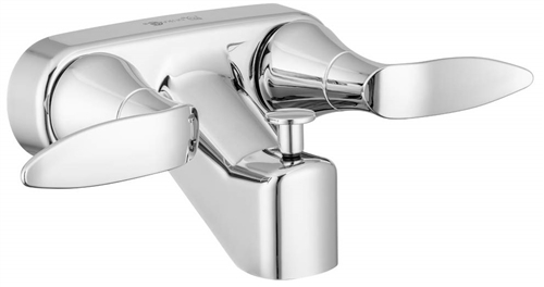 Dura Faucet DF-SA110LH-CP RV Lavatory Faucet With Tub And Shower Diverter - Chrome