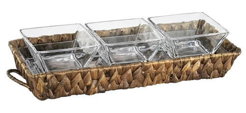 Artland 60216 Seagrass 3-Section Serving Tray